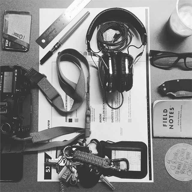 Office pocket and tool dump.