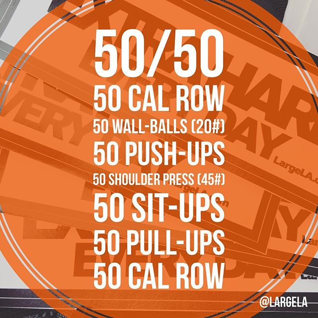 The hustle was real today. 50/50 50 CAL ROW 50 WALL-BALLS (20 #) 50 PUSH-UPS 50 SHOULDER PRESS (45 #) 50 SIT-UPS 50 PULL-UPS 50 CAL ROW FOR TIME (37:00) @theforgecf @saddlebackcrossfit