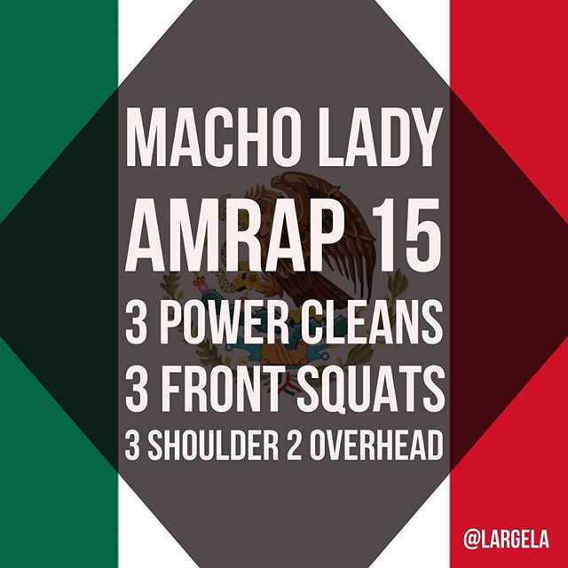 I don't always work out with @mrmannyflow3rs but when I do it's something Latin. Btw, Manny's warmup is a workout in itself: 5 ROUNDS 250M Row 5 Burpees Then... Macho Lady AMRAP 15 3 Power Cleans 3 Front Squats 3 Shoulder to Overhead Should be heavy enough to just get 15 rounds they say. All I know is that it was heavy enough. @theforgecf @511tactical