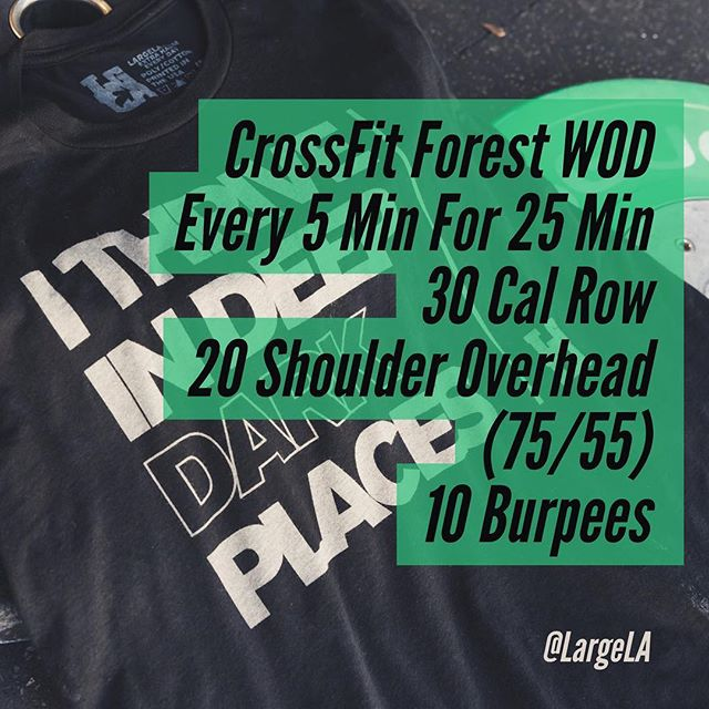 So by round 4 I was doing 16 burpees with no clue as to where I was until I realized everyone else had finished theirs. This one will smoke you. If you have shoulder issues like me try doing Hang Power Cleans instead of the S2O. @crossfitforest