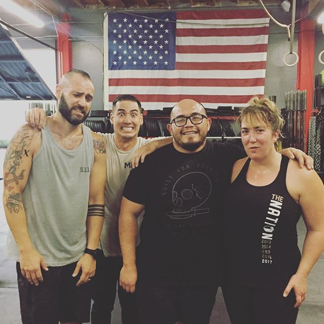 Good friends, a WOD and a bucket of sweat. Good times dropping in at the 'Nation. 5,3,3,1,1,1 Strict Press 21,15,9 Dumbbell Clean and Jerks Burpee Box Jump-Overs Thanks coach Paul for letting me join the 6am fun. @ruination_crossfit @theforgecf