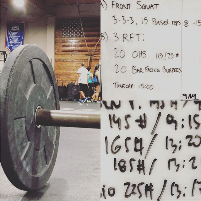 Handled. With the @crossfitforest family. Granted I thought today's WOD involved heavy deadlifts rowing and another something. But got after it with some great people.