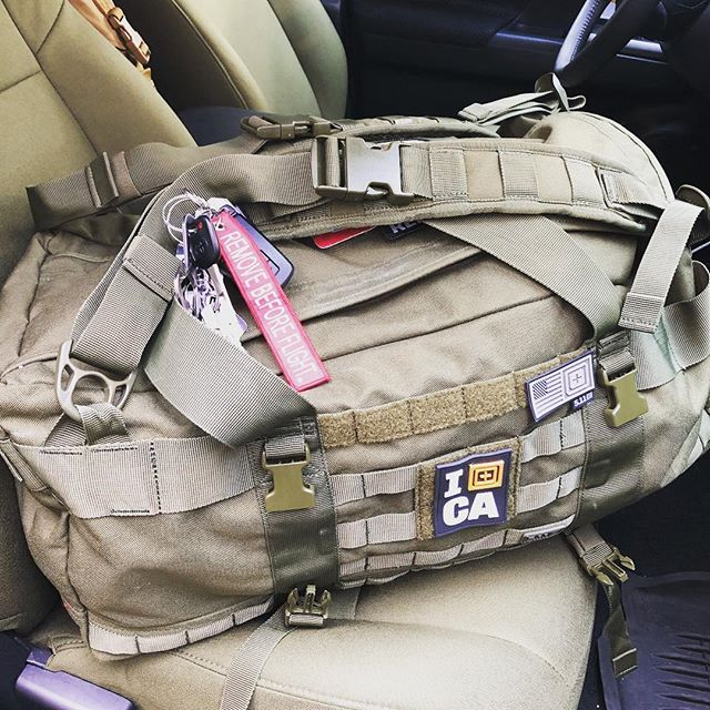 Ready to head out to Shot Show and took a minute to admire how our truck's interior matches our bags cause they're cut from the same cloth. Literally. @511tactical