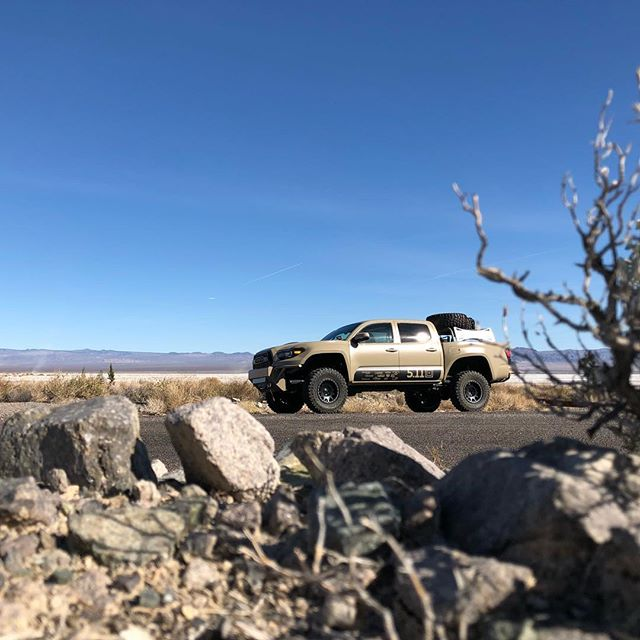 Shot Show bound. Pit stop – Mohave National Preserve to check out Soda Lake. @511tactical