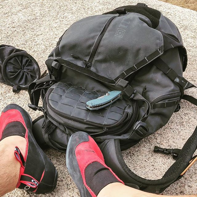 So my Havoc 30 bag has been my go-to for a lot of my activities. From hiking up Mt. Jacinto, single tracks down Saddleback or climbing in Joshua Tree, this bag always has just the right amount of space and function for what I need. Yeah I work for 5.11 (not affiliated with LargeLA) but I definitely drink the Kool Aid too, so this is not a post encouraged by our marketing team, just sharing my love for our products. @511tactical