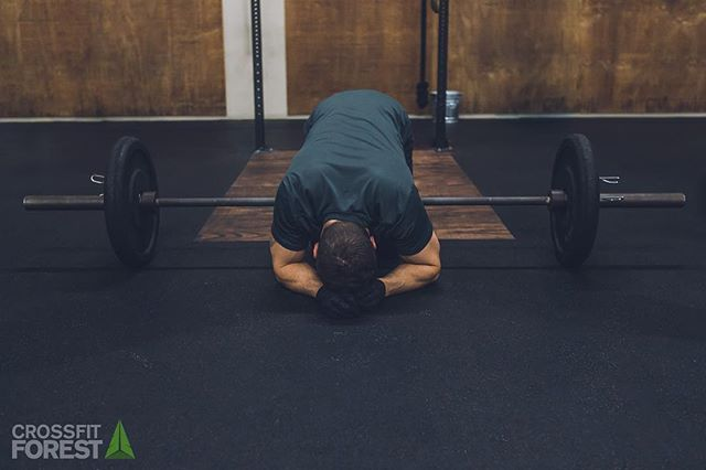 It goes without saying most of us ended up in some similar position. @crossfit @crossfitphotojournal @crossfitforest.rsm