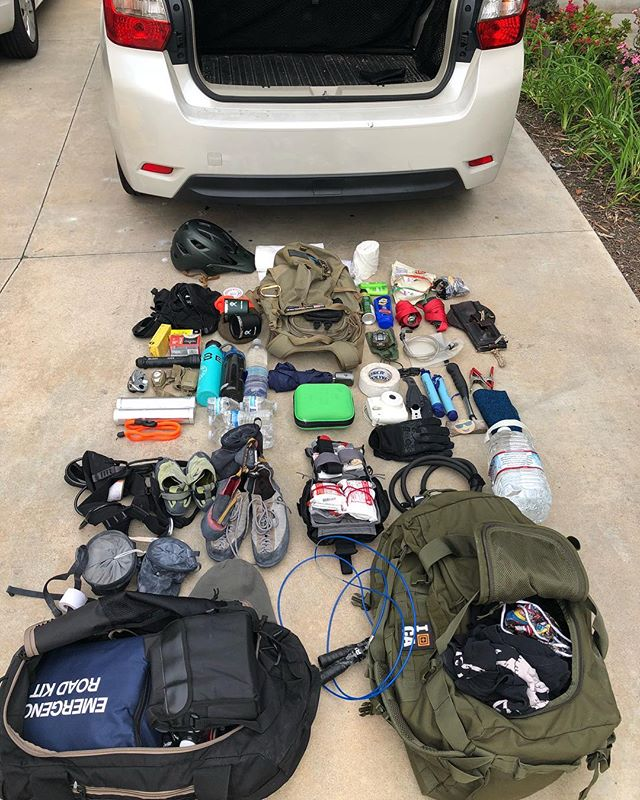 Car pocket dump! So…my friends say I have way too much crap in my car. I say, you'll thank me one day…you know, when you need an extra chalk bag, a few first aid kits, like need to drink water out of a murky pond or need some toilet paper…