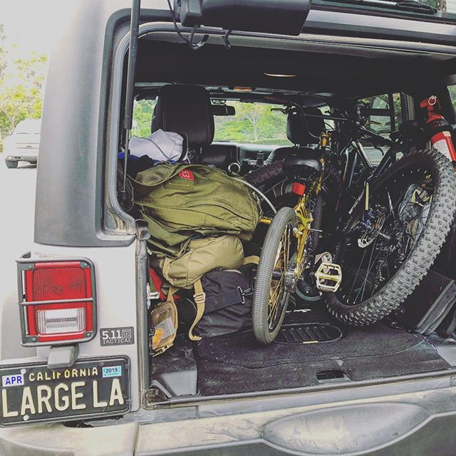 Who else is going to get out there this weekend? Bikes and @511tactical bags loaded up!