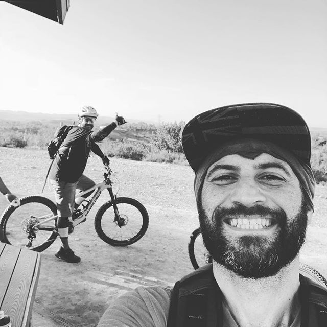 Legit awesome morning with @instafronck and junior Franck. Sometimes the trail rides you but sometimes, sometimes, you ride the trail.