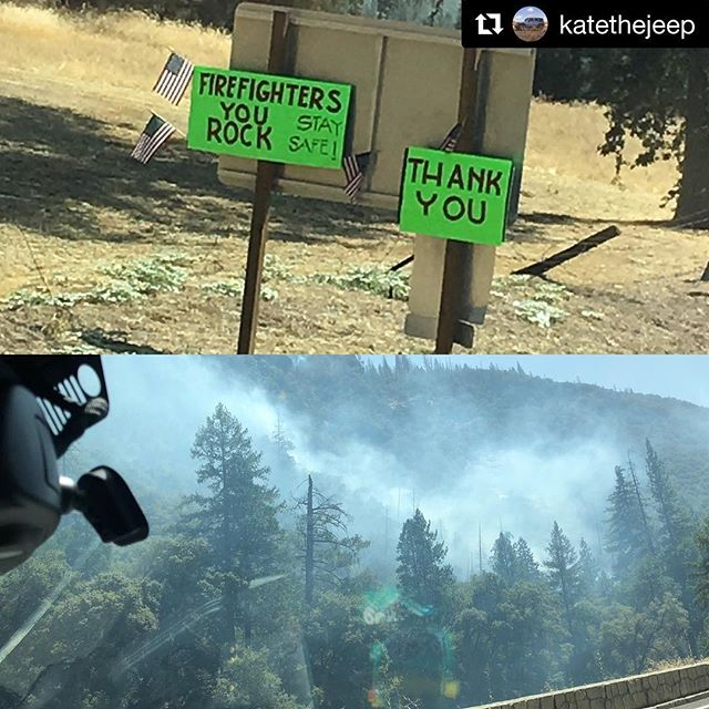 Humbling. @katethejeep with @get_repost ・・・ It might be because I work for a company that whole heartedly supports our first responder community but seeing these community signs around the area where our men and women firefighters sacrificed life and limb to keep the Ferguson fire at bay was an emotional experience for me. I had my wife grab my camera and snap shots for me as soon as I saw them. Seeing the smoldering remains of what could have been the continuation of a massive blaze in Yosemite if not for our brave firefighters put the whole thing into a perspective that watching it on TV just doesn't give you. Justice is not done for them in the news after seeing the type of terrain they had to fight through. I am humbled and thankful that there are men and women braver and more self sacrificing than me to keep us safe from all that can derail our lives. I sleep sounder for it. @511tactical
